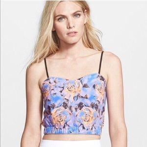 Clover Canyon Tops - Clover Canyon flowered cropped top