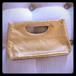 The Limited Handbags - The Limited Gold clutch