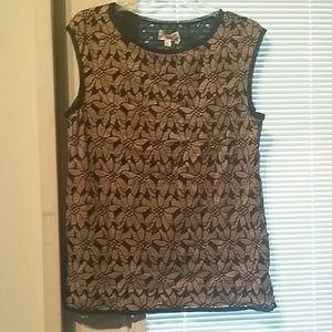 Max Studio Black and Brown shirt