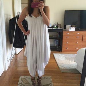Chic draped white jumpsuit size S