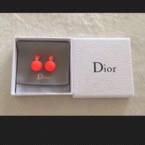 100% Authentic Mise En Dior Orange Earrings
