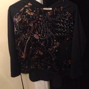 Hache Tops - Vintage HACHE silk shirt