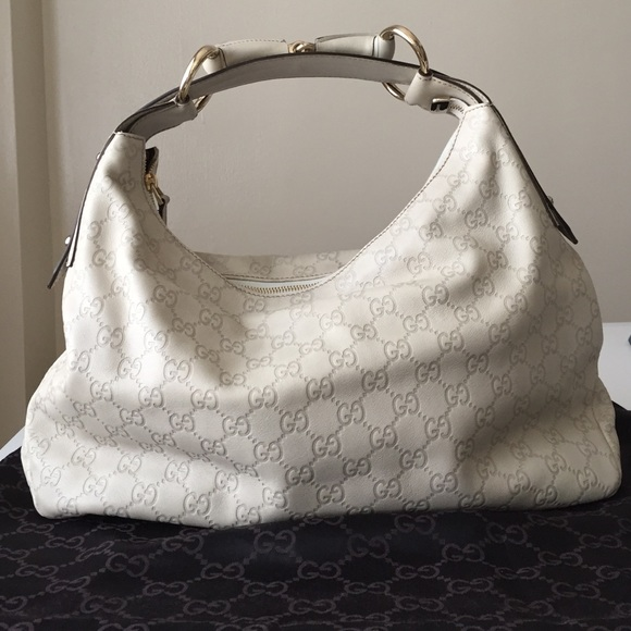 38% off Gucci Handbags - Off-white Gucci guccissima leather hobo ...