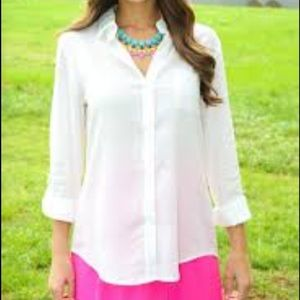 Peach love california Tops - NWT size small ivory collared button up blouse