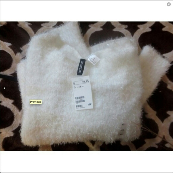 28% off Brandy Melville Sweaters - NWT White Fluffy Jumper Sweater ...