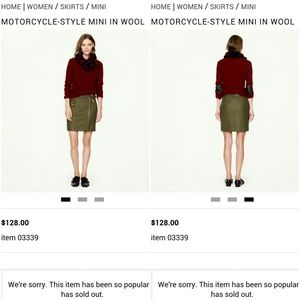 J. Crew Dresses & Skirts - $128 J. Crew Motorcycle-Style Mini Skirt in Wool