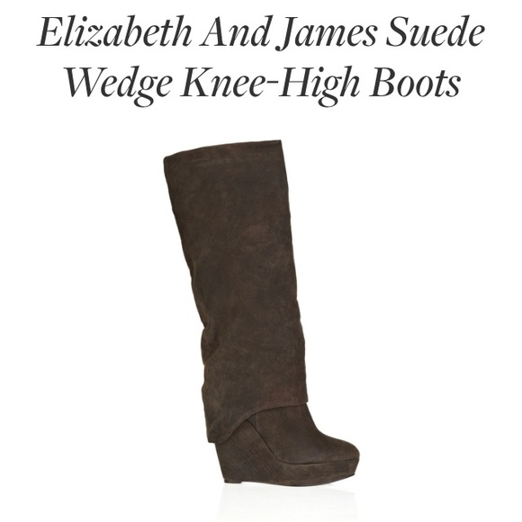 Elizabeth and James Leather Wedged Boots cheap sale visit for nice cheap price looking for for sale buy cheap low price fee shipping ODkLIE