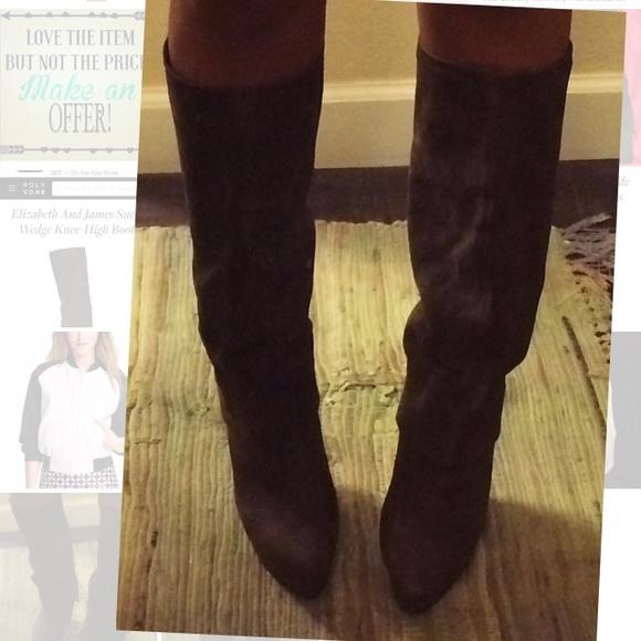 86% off Elizabeth and James Shoes - Elizabeth & James knee high ...