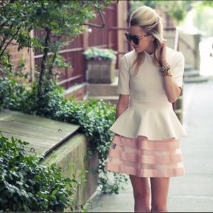 ASOS Flare Pink Skirt Size 2