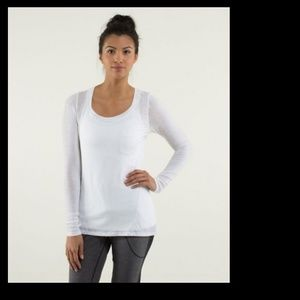 lululemon athletica Tops - 🚫SOLD🚫Lululemon White Inner Calm Shirt