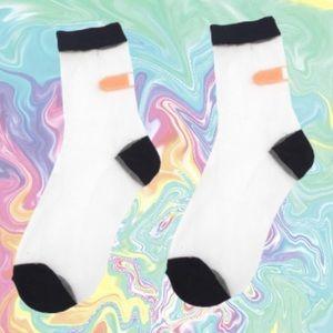 Black Sheer Bandaid Socks