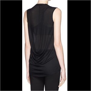 Helmut Lang Drape Back Jersey Top - price to sale!