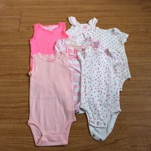 Other - LOT Summer Girl's Onesies 9 Months