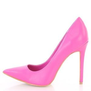Shoe Republic Fuchsia Faux Leather Pumps