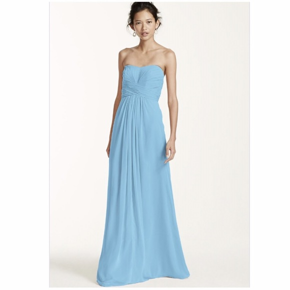 6a76ad8774cb David s Bridal Dresses   Skirts - Capri Blue Bridesmaid Dress David s  Bridal Long