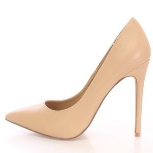 Shoe Republic LA Nude Camel Pumps