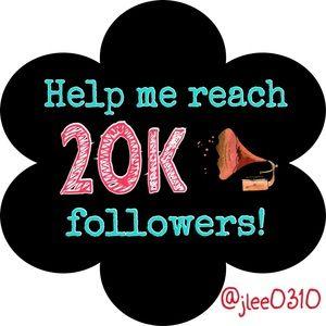 5 FOLLOWERS AWAY FROM 20K!!!!!