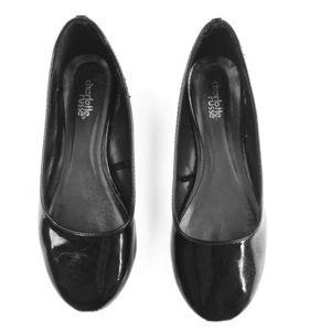 Charlotte Russe black patent ballet flats shoe 6.5