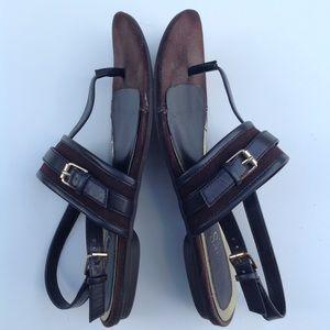 CHAPS RALPH LAUREN brown thong sandals 6.5