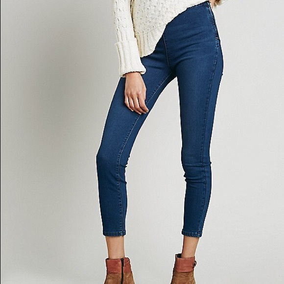 cab4865231fe Free People mod side zip high rise jeans