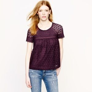 Bundle of 2 J. Crew Eyelet Tops
