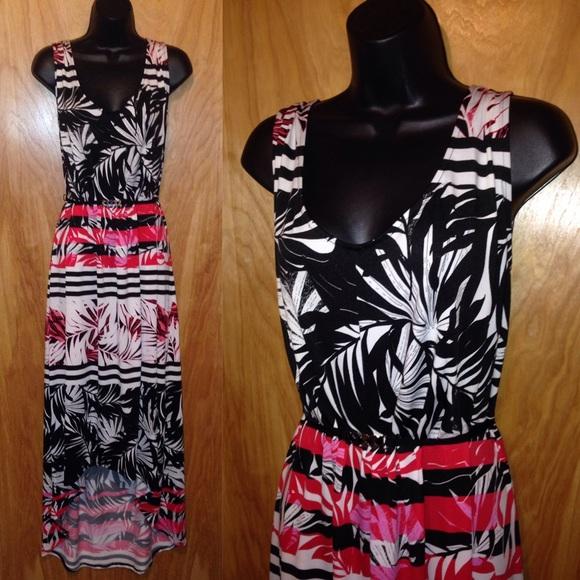 Stunning Hi-Lo Macy\'s Maxi Dress Plus Size 3X NWT