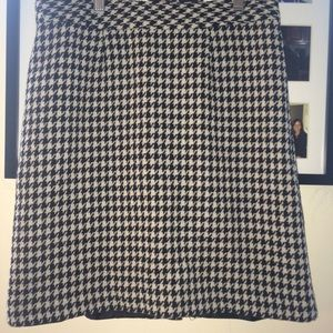 Houndstooth a line skirt