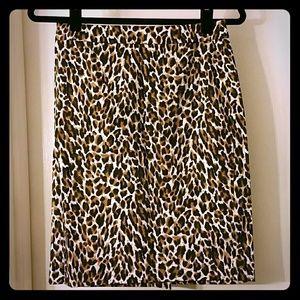 Banana Republic cheetah print pencil skirt