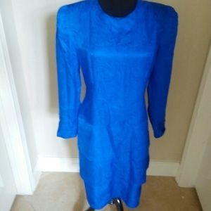 Vintage maggy london 100%silk dress