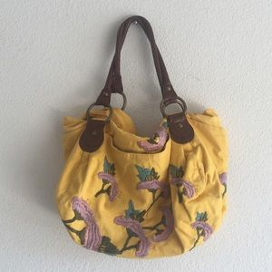 Anthropologie Embroidered purse
