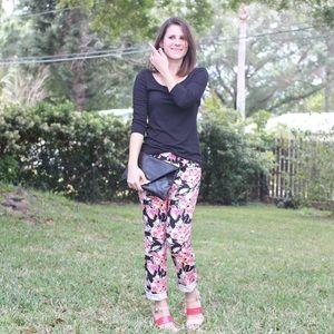 LOFT Pants - Floral printed pants