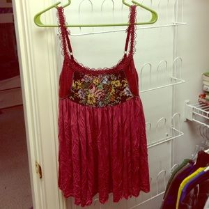 Free people floral lace cami