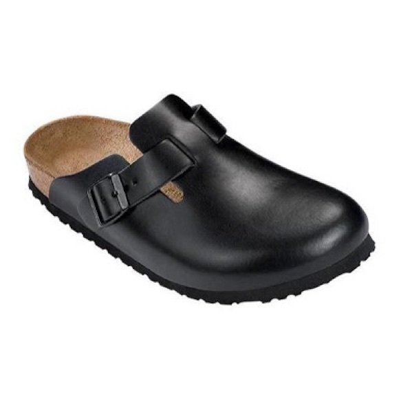 cc0ef52de006 Birkenstock Shoes - Birkenstock Leather Black Clogs