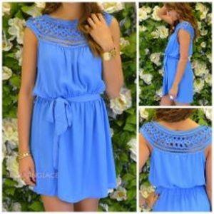 Amazing Lace Dresses & Skirts - Amazing Lace Blue Lattice Dress
