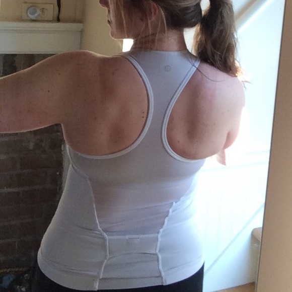 Lululemon athletica lululemon built in sports bra tank for Shirts with built in sports bra