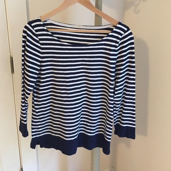 J Crew Breton striped shirt. Size M