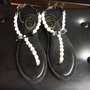 d0515d515317 Rene Caovilla Shoes - Pre-owned Rene Caovilla pearl thong sandal