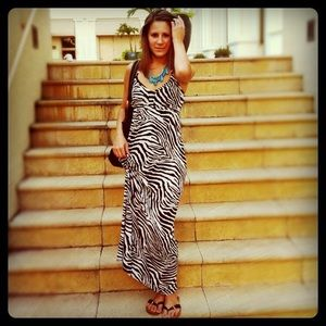 Express Dresses & Skirts - Zebra print maxi dress