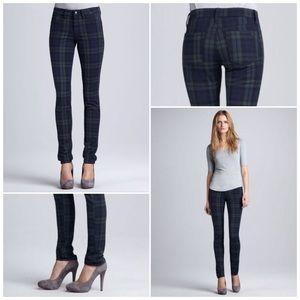 Joes jeans school yard plaid skinnies