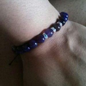 Amethyst agate 8mm bracelet