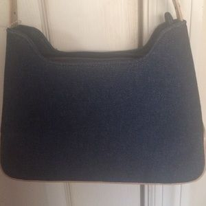 NWOT Denim and leather PURSE!!