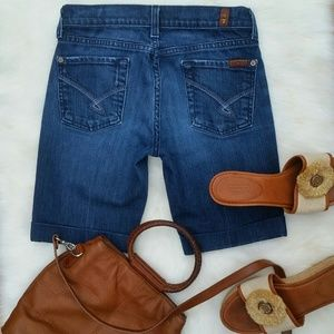 7 for all Mankind Denim - 7 for all Mankind Bermuda Bootcut Shorts