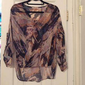 Arden B watercolor blouse
