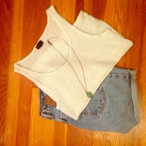 Topshop Loose-Knit Tank