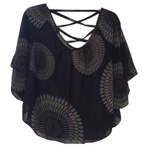 Charlotte Russe peacock blouse