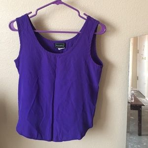 Anxiety Tops - dressy purple shirt