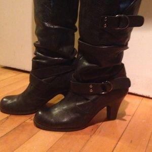 Aldo leather slouchy boots.