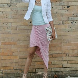 Dresses & Skirts - Pink Assymetrical Skirt