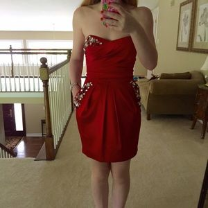 Arden B red jeweled cocktail dress