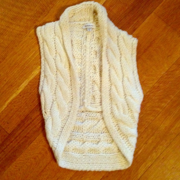 73% off bebe Sweaters - Bebe tan sweater vest from Tiera's closet ...